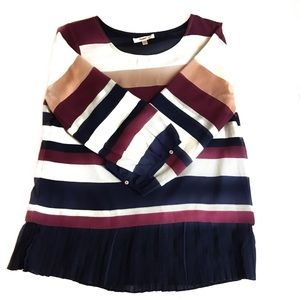 Skies are Blue Striped Blouse Small